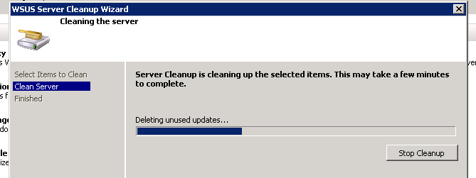 WSUS Cleanup Wizard